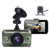 Newest 3 Inch Dual Lens Car Dvrs Full HD 1080P Car Dvr Video Recorder Car Camera Dash Cam With Rear View Backup Camera