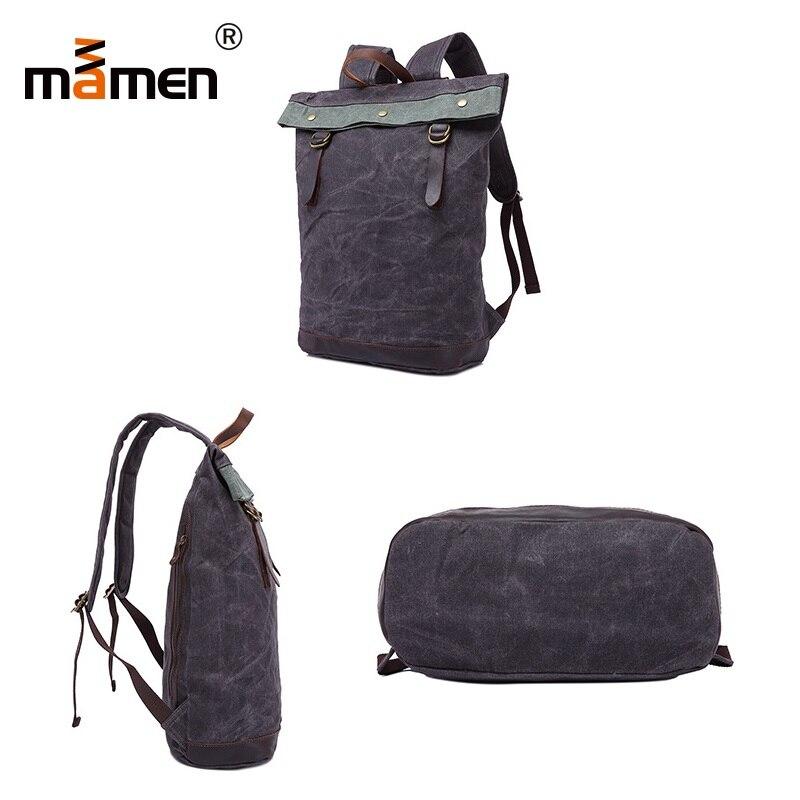 Mamen Shoulder Bag 33*15*46cm Cowhide Handle Backpack Student Women Shopping Outdoor Travel Camera Bag 0.9kgs 2018 New