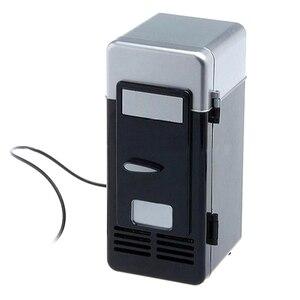 Image 2 - Mini réfrigérateur Usb congélateur à froid Mini réfrigérateur Mini Portable Soda Mini réfrigérateur pour voiture noir