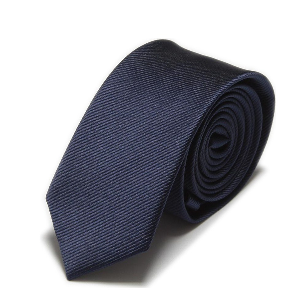2019 New Men Slim Ties Neck Tie solid color novelty Dark blue Black White Red