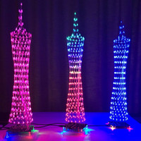 Light cube Kit, shell, Guangzhou Tower small waist LED light wireless remote control music spectrum electronic diy kit