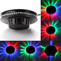 Full Color UFO 48 LEDs Voice Control Sunflower LED Stage Effect Light Rotating RGB Laser Disco Party wall lamp for KTV DJ Par