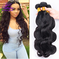 Peruvian Virgin Hair 4 Bundle Deals Alimoda Hair Company Peruvian Body Wave Hair Extensions 100% Human Hair Weave Wavy Annabelle