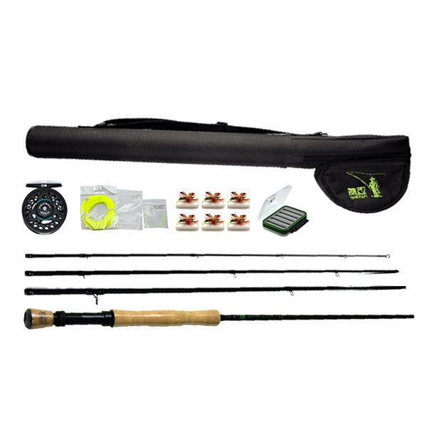Fishing Group!!!  Send Flies with box Hard Dry Fly fishing Rod and Reel Combo's Set Fishing Tackle Model 7/8 send Free Fly Line