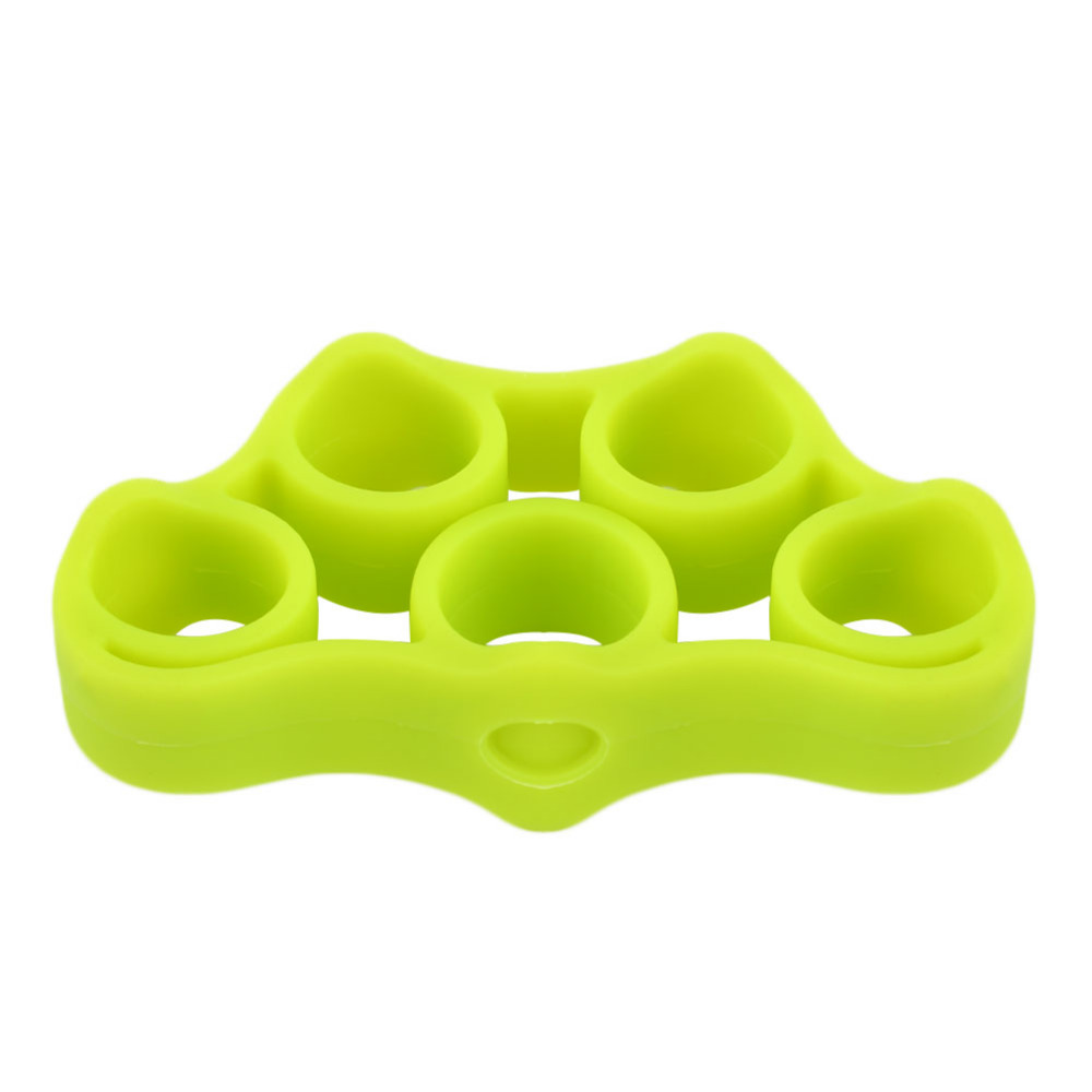1Pcs Silicone Finger Gripper Strength Trainer Resistance Band Hand Grip Wrist Yoga Stretcher Finger Expander Exercise 3 Colors