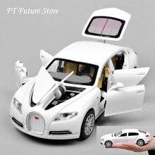 Дешевые 1:32 Bugatti Galibier Veyron Автомобильные модели литые под давлением модели Brinquedos коллекция Вытяните назад детские игрушки подарки дисплеи