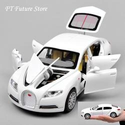 Дешевые 1:32 Bugatti Galibier Veyron автомобиля Modles сплава литья под давлением модели Brinquedos коллекция отступить автомобиль детские игрушки подарки