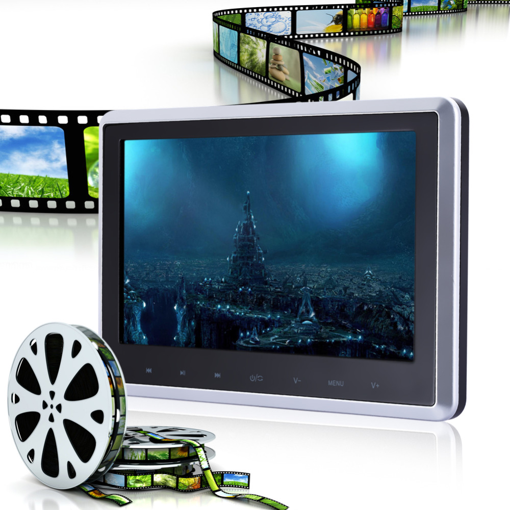 Pair 10 1 inch 1024 600 car headrest dvd player usb sd hdmi ir fm tft - 10 Digital Tft Lcd Screen Car Headrest Monitor Usb Sd Cardreader Dvd Player Build
