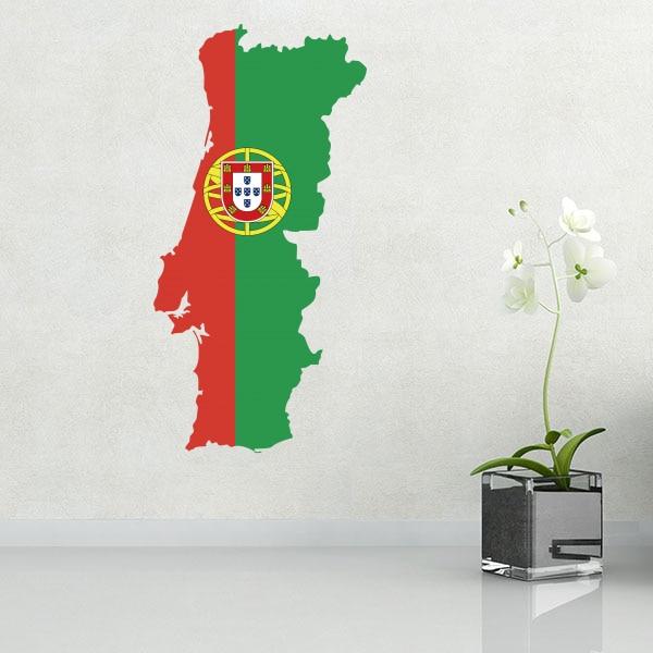 Portugália zászló térképe fali vinil matrica egyedi házi - Lakberendezés