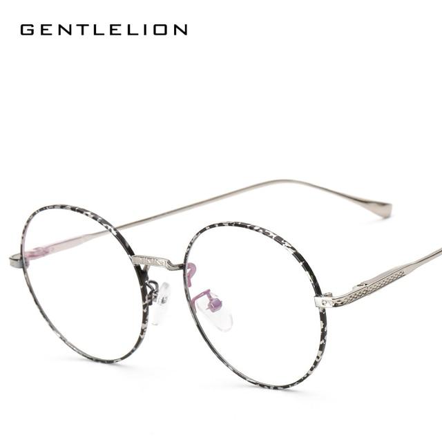 4e42e99728 2017 Glasses Frame Retro Full Rim Gold Eyeglass Frame Vintage Spectacles  Round Computer Glasses Unisex 3019