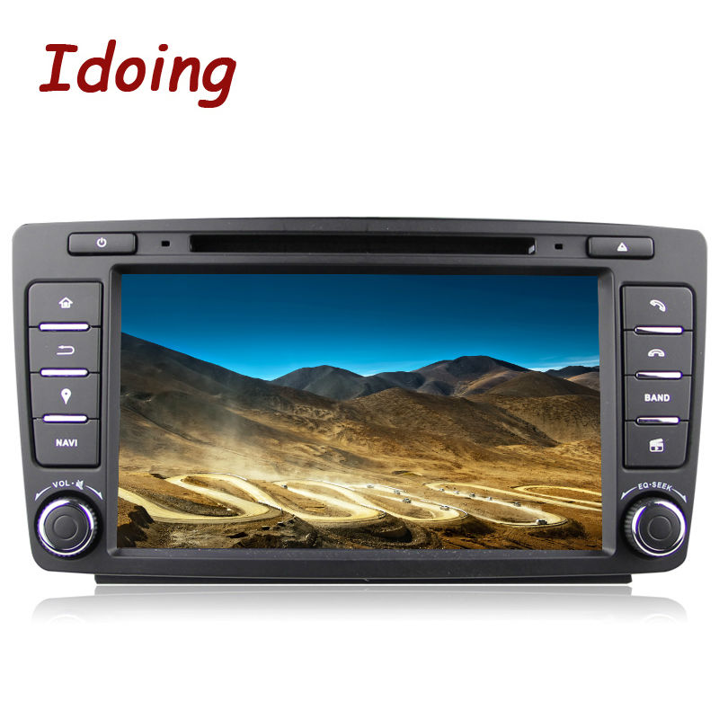 8Inch Idoing 2din Android 8.0 Quad Core Car Navigation System 2G+32G Built in Canbus Wifi Bluetooth Disc For VW Skoda Octervia