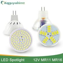 Kaguyahime LED MR16 12V MR11 żarówka lampka punktowa 80LEDs DC 10 30V reflektor LED 6W Lampara ciepły biały zimny biały Bombillas