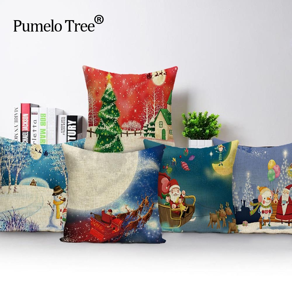 Ziemassvētku spilvenu pārvalka dīvāns augstas kvalitātes - Mājas tekstils - Foto 2