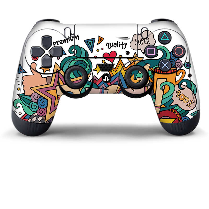 Data Frog Protective Cover Sticker For PS4 Controller Skin For Playstation 4 Pro Slim Decal Accessories 15 Styles