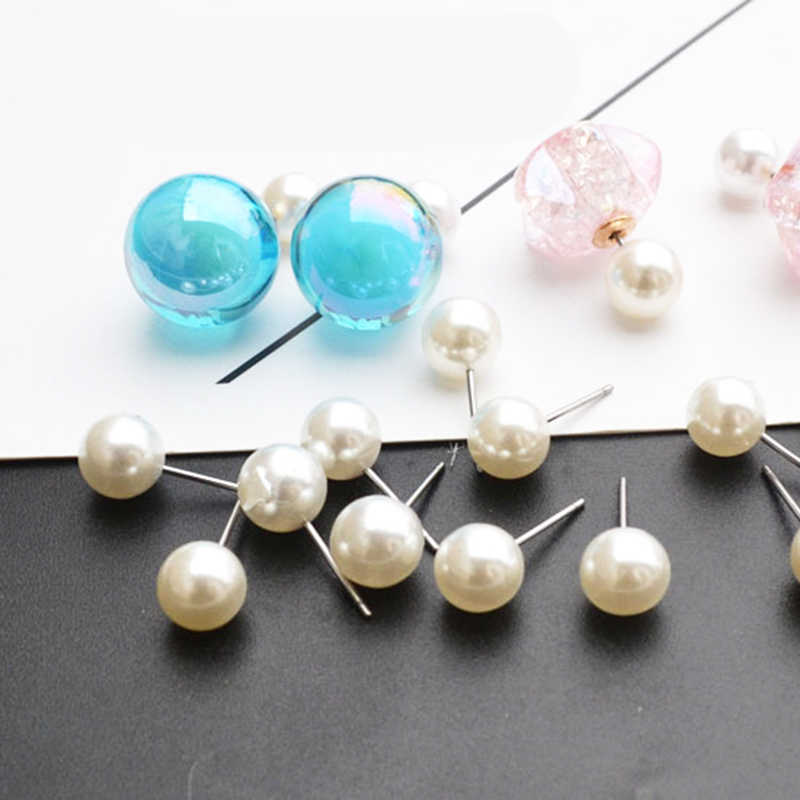 Wholesale 10 Pair/Set Simulated Pearl Stud Earrings 6-12 mm for Women Girl Jewelry