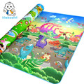 Уполномоченный Подлинный Maboshi Doulble-сайта Зоопарк и Динозавров Ребенка Играть Мат для Детей Beach Mat Пикник Ковров Детские Сканирование Мат CM-1010