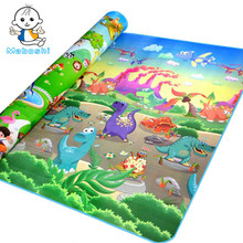 Quality Maboshi Doulble-Sides Zoo& Dinosaur Kids Play Mat Child Picnic Beach Mat Eva Foam Carpet Rug Baby Crawling Mat Baby Toy