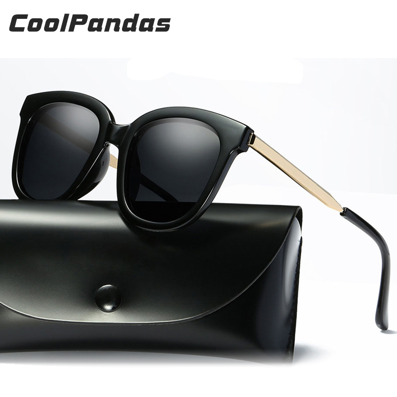 2018 Coolpandas Brand Designer Women Sunglasses Round Polarized Fashion Vintage Women Glasses oculos Cat eye Eyeglasses UV 400