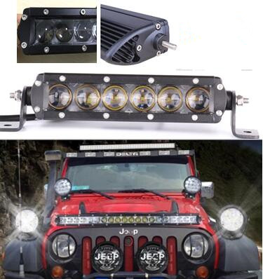 1pcs 8inch 30w single row slim led light bar 4x4 offroad truck car 1pcs 8inch 30w single row slim led light bar 4x4 offroad truck car boat 4d lens led lights maker in light barwork light from automobiles motorcycles on aloadofball Image collections