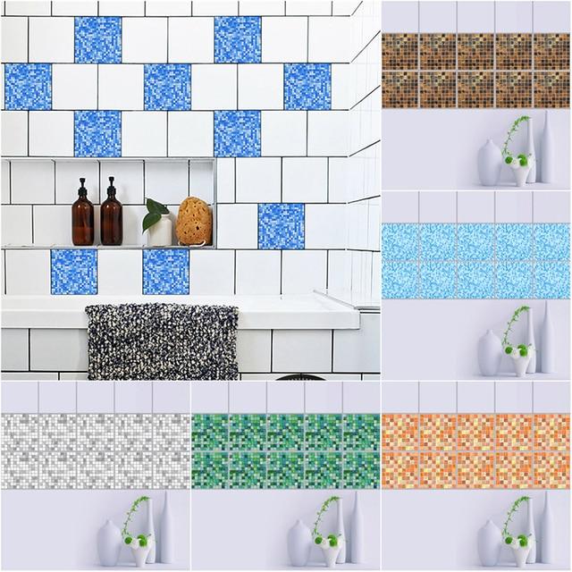 tanche pvc taille ligne mur autocollant mosaque stickers carrelage adhsif mosaque papier peint pour salle de