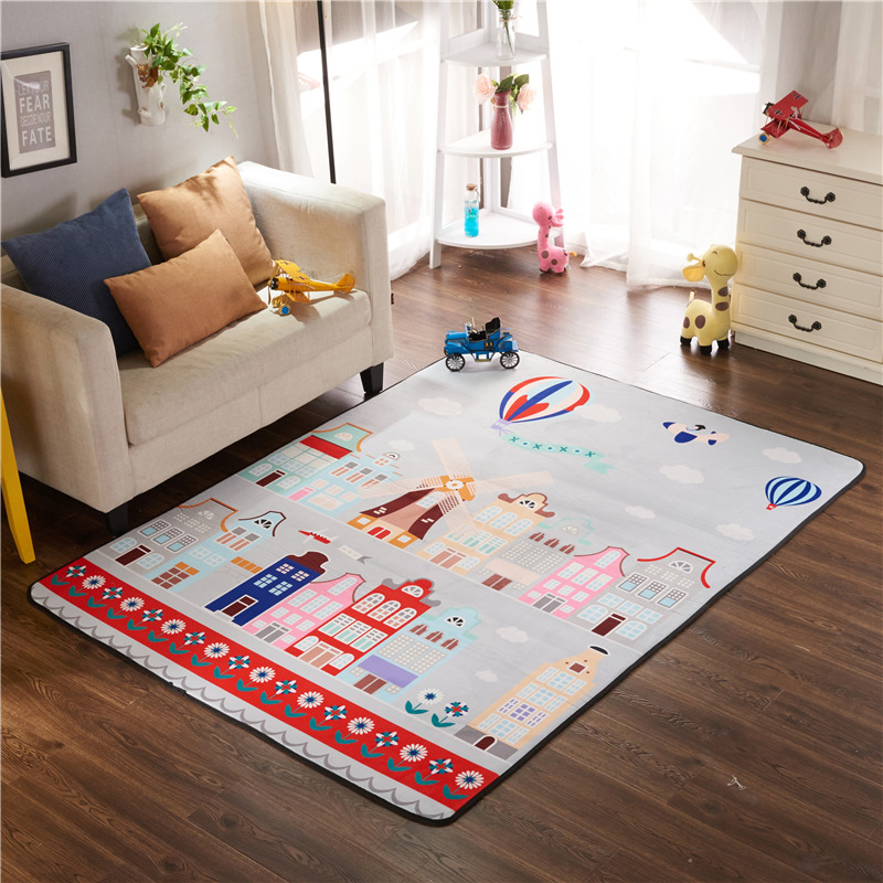 Infant Shining Play Mat Children's Non-slip Mat 150*200cm Thickened Living Room Mat Suede Climbing Mat Game Carpet Non-Toxic infant shining play mat nordic style rugs and carpets for living room bedroom soft velvet kid s game mat coffee table carpet