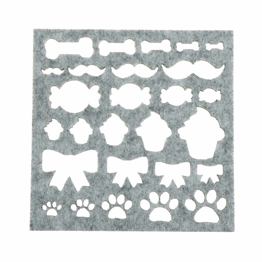 7pcs Hand Embroidery Tool Sewing Accessories DIY Craft Wedding Dress Needle Felting Starter Kit DIY Craft Stencil Applique Mold