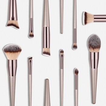 Women's Fashion Brushes Tools 1PC Wooden Foundation Cosmetic Eyebrow Eyeshadow Brush Makeup Brush Sets Pincel Maquiagem vibrator