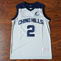 MM MASMIG Lonzo Ball 2 Chino Hills High School Basketball Jersey Stitched Gray