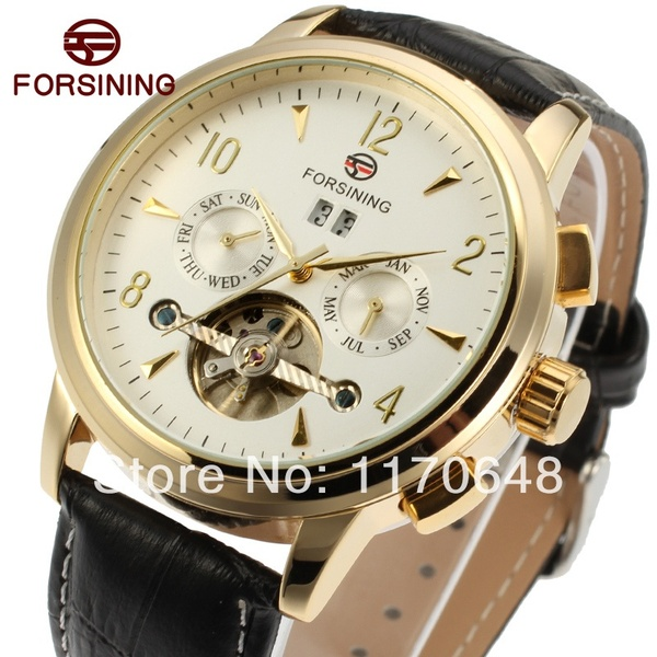 FORSINING Luxury Brand Mens Mechanical Watches Fashion Casual Waterproof Wristwatch with Date and Week Display Relogio MasculinoFORSINING Luxury Brand Mens Mechanical Watches Fashion Casual Waterproof Wristwatch with Date and Week Display Relogio Masculino