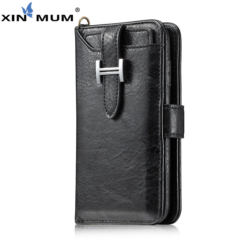 XIN-MUM Wallet Pouch for Samsung Galaxy S9 Plus Note8 S8 Plus S7 S6 Edge Durable PU Leather Cover Bag Photo Frame Card Slot(China)