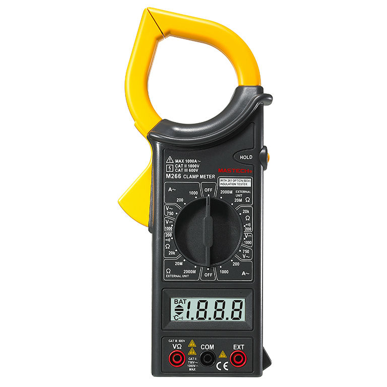 MASTECH M266 Voltage Current Resistance Temperature Digital Clamp Meter Worldwide Store
