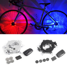 OUTAD Super Bright Remote Control Cycling Bike Hub Light Waterproof LED Bike Wheel Light Night Warning Rear Front Light