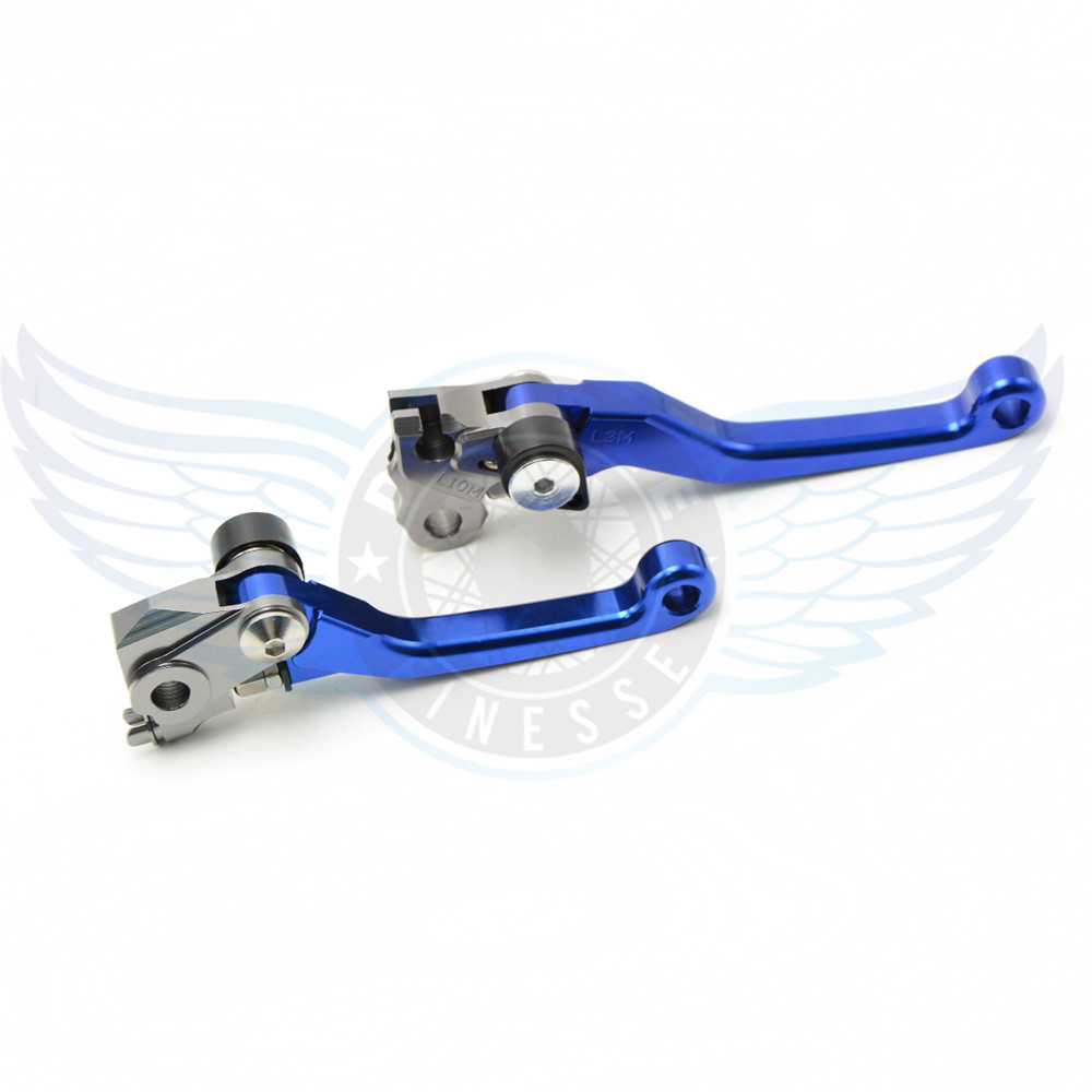 ФОТО new brand motorcycle accessories folding Pivot Brake Clutch Levers cnc blue For Suzuki RMX250S 1993 1994 1995