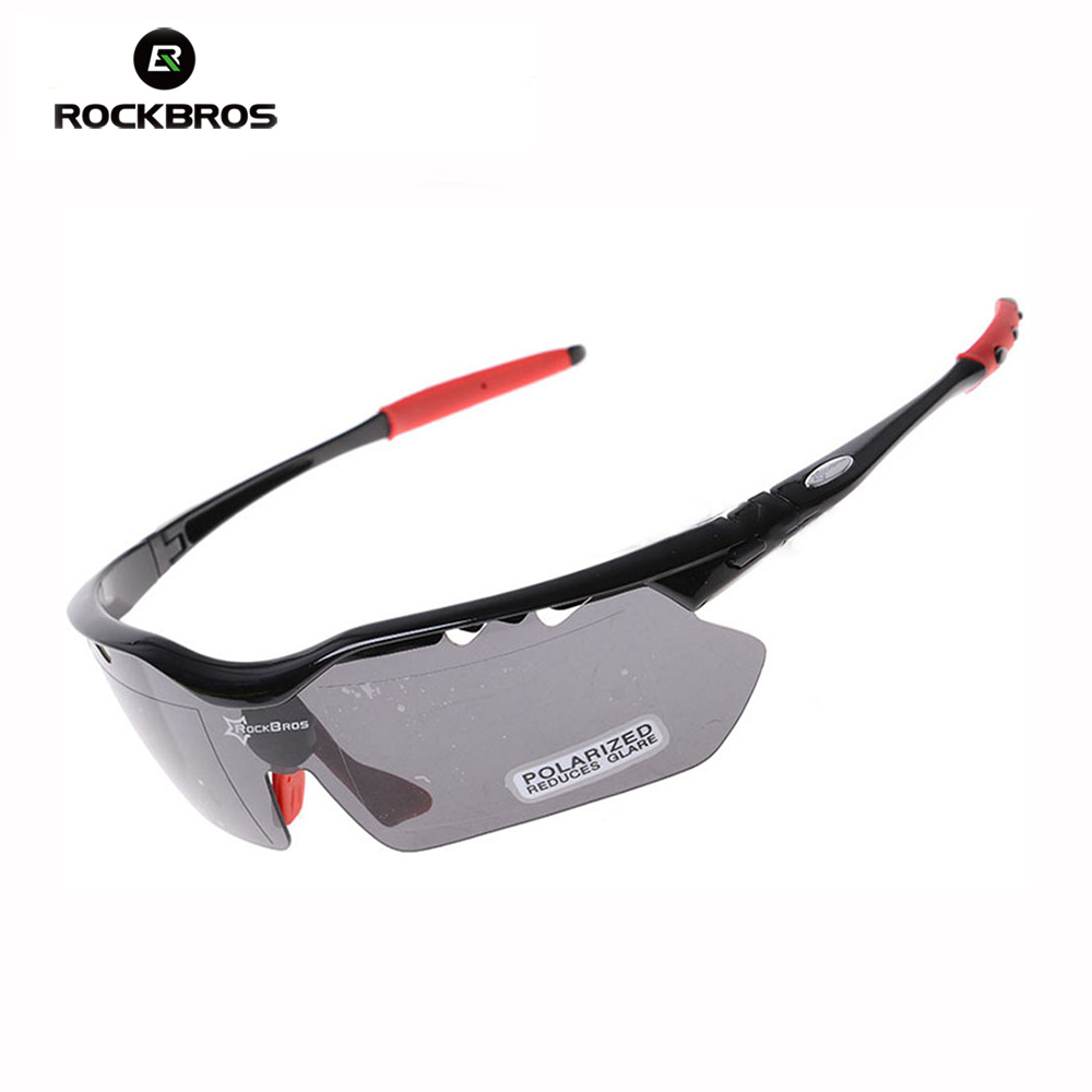 Hot! RockBros Polarized Cycling Sun Glasses Outdoor Sports Bicycle Glasses Bike Sunglasses TR90 Goggles Eyewear 5 Lens #10009 veithdia brand unisex retro aluminum tr90 sunglasses polarized lens vintage eyewear accessories sun glasses for men women 6108