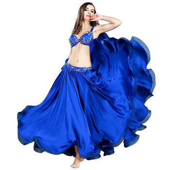 2019 New high-end handmade belly dance dance costume suit Carnival  Performance Oriental Dance Outfits Top Bra Long Skirt