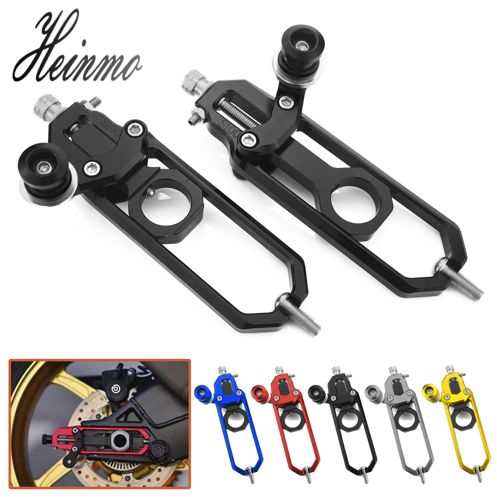 Motorcycle Accessories FOR S1000R S1000RR HP4 2012 2013 2014 2015 2016 Aluminum Chain Adjusters with Spool