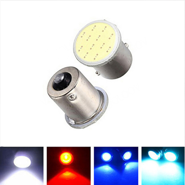2017 2pcs Super White Cob p21w led 12SMD 1156 ba15s 12v Bulb RV Trailer Truck Car Styling Light Parking Auto led Car lamp