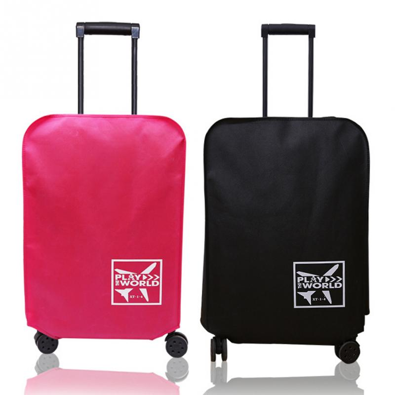 Solid Color Travel Luggage Cover Non-woven Fabrics Protective Suitcase Covers 18-24inch Trolley Case Cover Travel Accessories