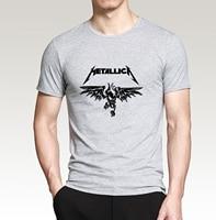 Hot Sale 2016 Summer Hip Hop Style Streetwear Classic Heavy Metal Metallica Rock Men T Shirt