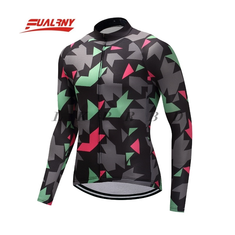 Team Long sleeve Ropa Ciclismo long Cycling Jersey 100 Polyester Autumn Bicycle Clothing MTB Bike Clothes Man block 17 colour in Cycling Jerseys from Sports Entertainment
