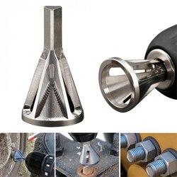 Pré-encomendar prata aço inoxidável rebarbagem externo chanfro ferramenta de aço inoxidável remover ferramentas rebarbas para broca bit TP-0144