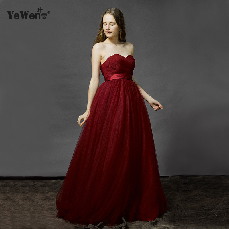 Wedding dresses simple burgundy white red tulle strapless for Simple white dresses for wedding