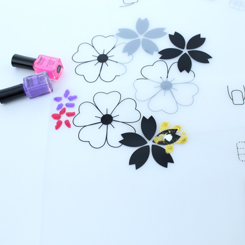 Nail Practice Silicone Coloring Pad Mat Polish Sticker Stamping Guide Printing Transfer Table Cover Tools Makeup