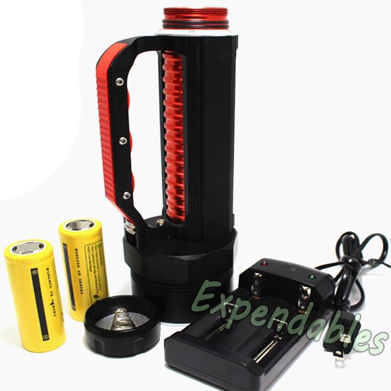 Hot 10000 Lumen 6x XM-L L2 LED Scuba Diving Flashlight 200m Waterproof Diver Torch Light 26650 Lanterna with Battery/Charger