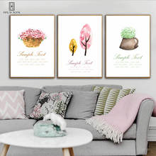 Modern Deramland Landscape Unframed Posters Pink Tree Grass Decorative Canvas Pictures Painting Wall Art For Home Bedroom Decor шампунь grass pink