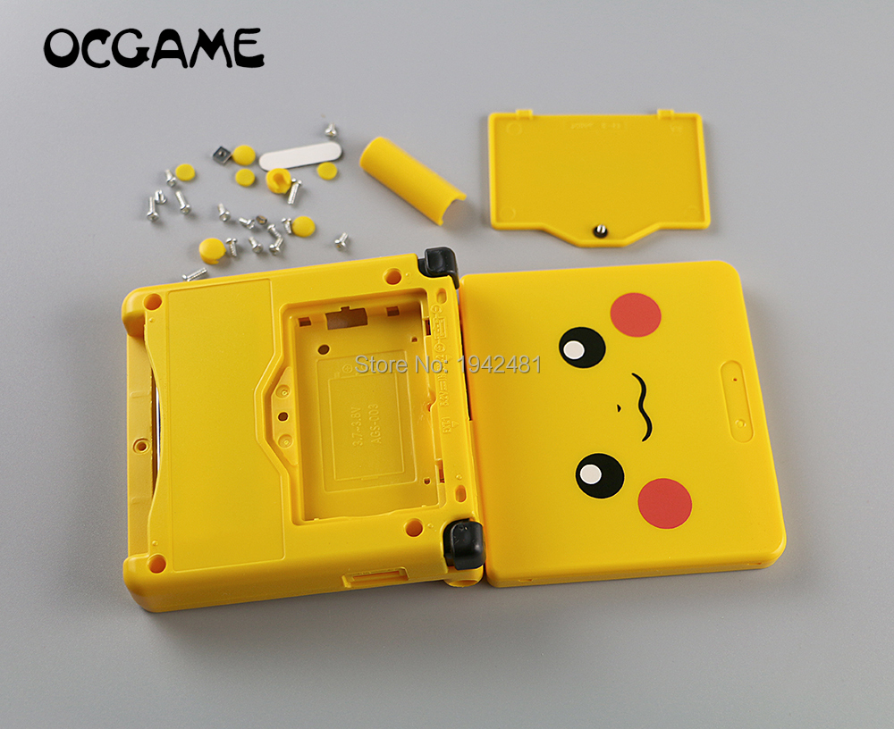 OCGAME Cartoon Limited Edition Cover Case Full Housing Shell replacement For GBA SP Game Console