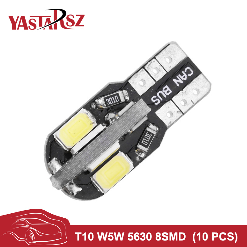 T10 8 SMD 5630 LED Canbus NO Error Auto Marker Light W5W 168 194 8SMD 5730 LED Car Wedge Bulb Interior Dome Reading Lamps DC12V 4x canbus error free t10 194 168 w5w 5050 led 6 smd white side wedge light bulb