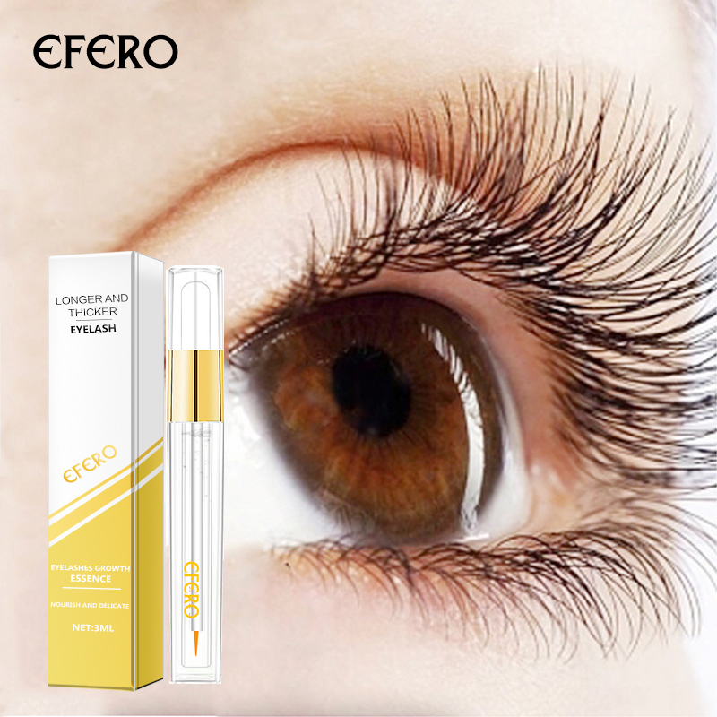 efero Eyelash Growth Treatment Serum Curling Eyelashes Enhancer Eye Lash Longer Thicker Eyebrow Eyelash Extension Makeup