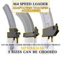 Taktische Militärische Ausrüstung M4 BB Speed Loader Konverter Anzupassen AK G36 MP5 Magazin für Jagd Airsoft Paintball Zubehör