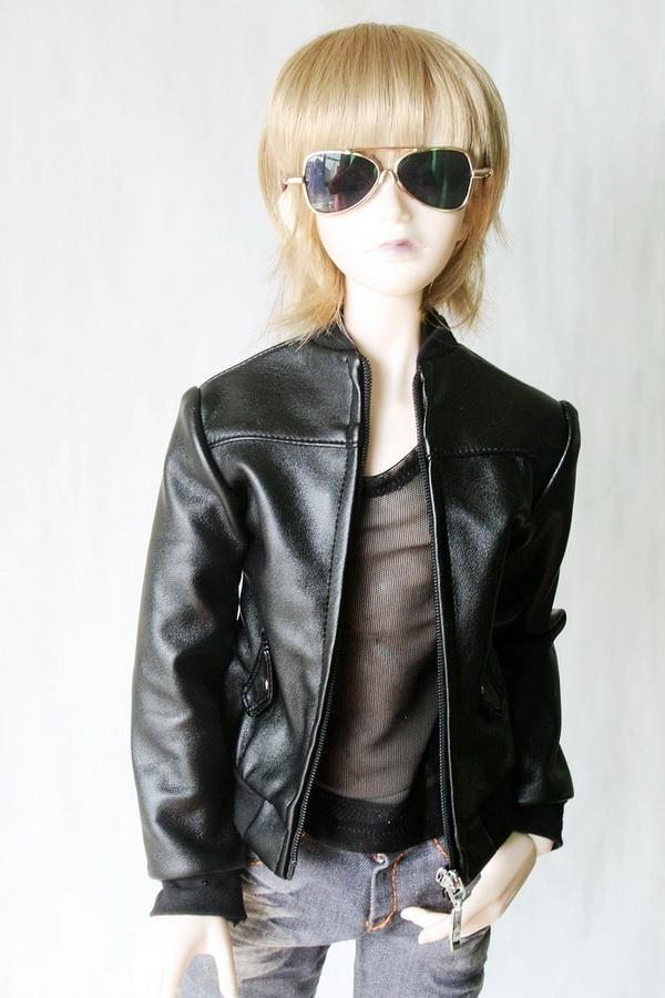 [wamami] 770# Leather Jacket/Coat/Suit/Outfit SD 1/3 Boy BJD Dollfie handsome grey woolen coat belt for bjd 1 3 sd10 sd13 sd17 uncle ssdf sd luts dod dz as doll clothes cmb107